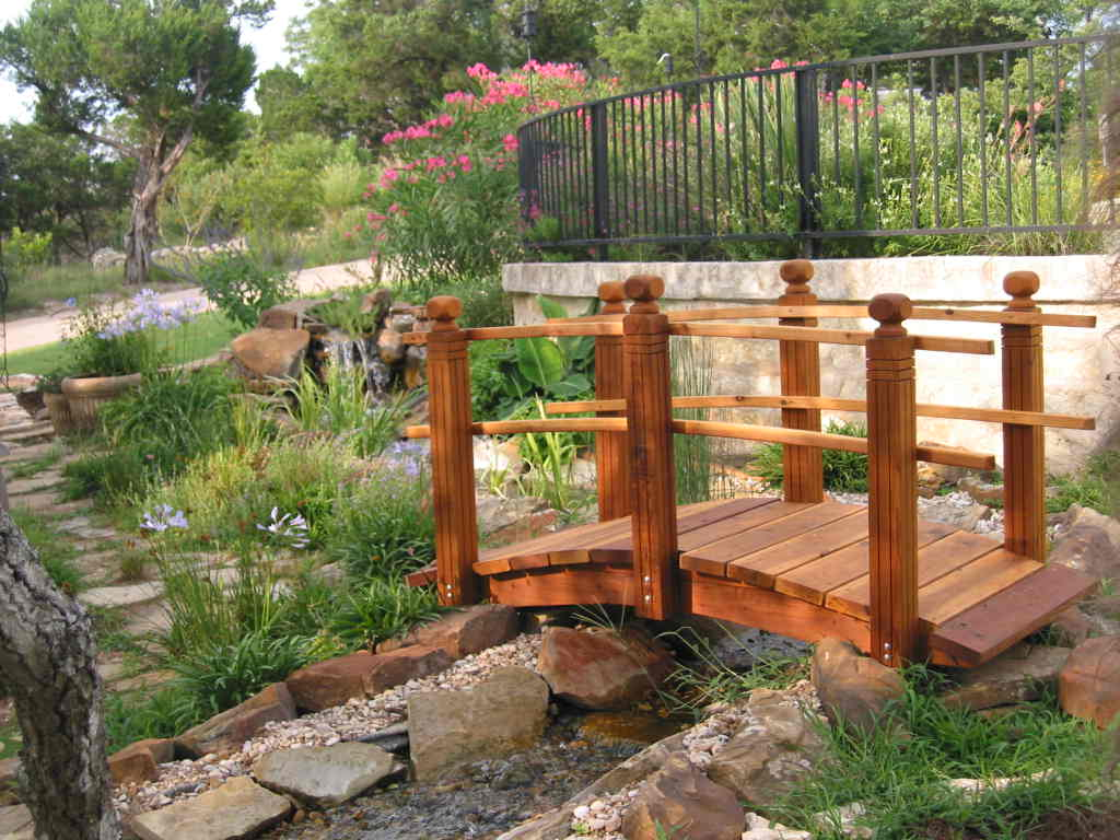 Yard bridge plans diy free download how to build a wooden for Fish pond bridges