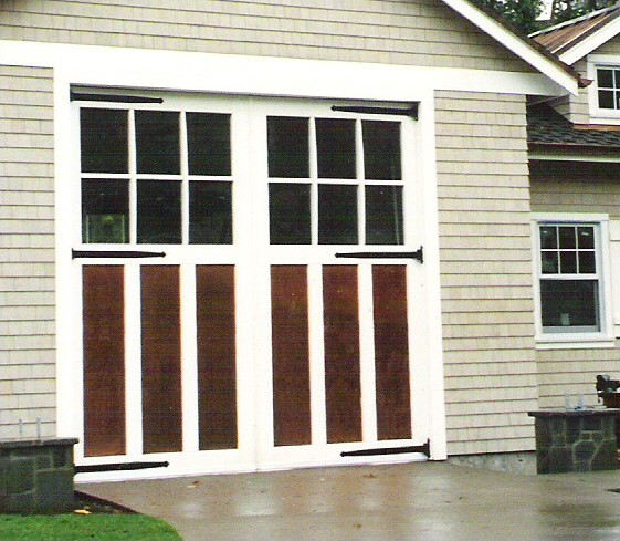 Evergreen carriage doors llc for Swing out garage doors price